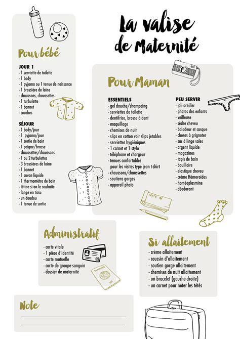 La liste pour la valise de maternité By Mini Reyve