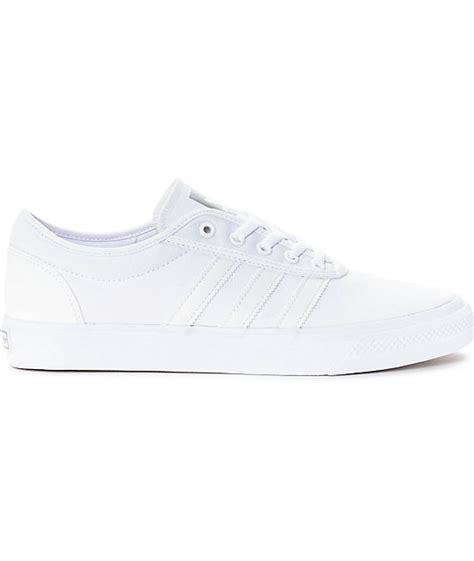 adidas adiease mono white canvas shoes zumiez