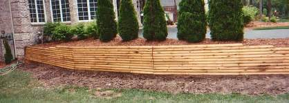 Landscape Timber Expectancy Retaining Walls Spray And Stain