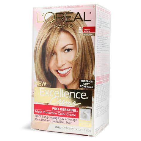 l oreal excellence creme permanent hair color medium copper 8 4 1 74 oz walmart l oreal excellence creme haircolor medium 8 ebay