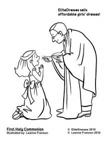 communion dress coloring pages free printable
