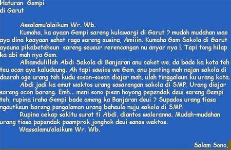 contoh surat pribadi dua bahasa