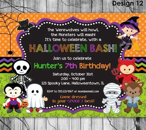 printable birthday invitations halloween theme best 25 halloween birthday parties ideas on pinterest