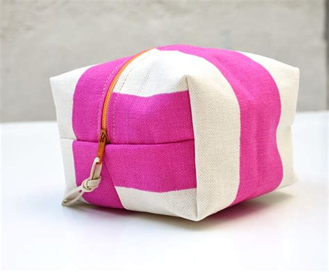 printable fabric bags pink small make up bag print fabric cese canvas zip