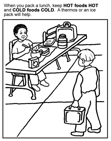coloring pages for food safety healthy food coloring pages for kids coloring home