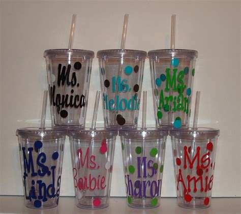 cheap monogrammed tumblers ideas pretty personalized plastic cups for cool drinkware
