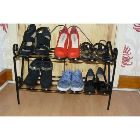 Decorative Shoe Rack by Shoe Rack 6 Pair Wrought Iron
