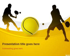 Powerpoint Templates Sports by Free Tennis Powerpoint Template