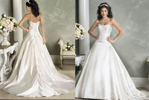 a line bling bling strapless wedding dresses from