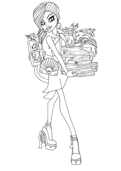 Free Printable Monster High Coloring Pages Jinafire Long High Colouring Pages Printable