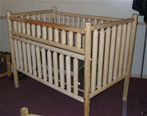 Log Cribs For Babies by Pioneer Log Furniture Baby Furniture