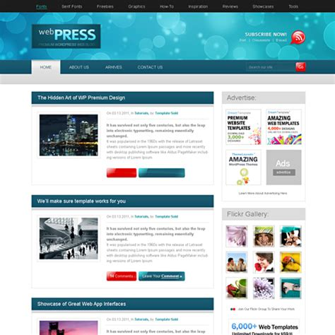 Webpress Css Template Web Blog Personal Css Templates Dreamtemplate Personal Website Template Html Css
