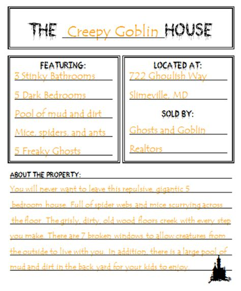 creative writing essay sles bed rested writing a haunted house ad
