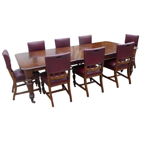 Solid Oak Dining Chairs For Sale Large Solid Oak Extending Dining Table And Chairs For Sale At 1stdibs