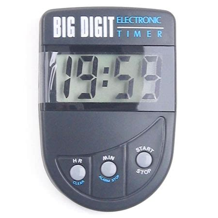 electronic bid timer big digit black timers accessories direct