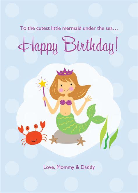 mermaid birthday card template mermaid birthday card