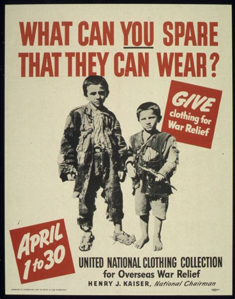 what can you give a for relief file quot what can you spare that they can wear quot quot give clothing for war relief quot nara