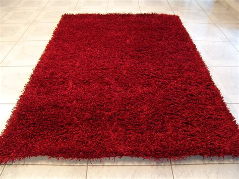 teppich rot calypso rot teppich hochflor teppich bei tepgo kaufen