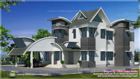 1829 Sq Ft Unique Contemporary Home Design Home Kerala Plans Unique Homes Designs