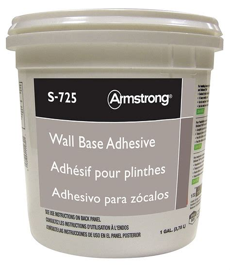 Dm016 Base 1 White armstrong wall base adhesive 1 gal pk4 23ny80 fp00725408 grainger