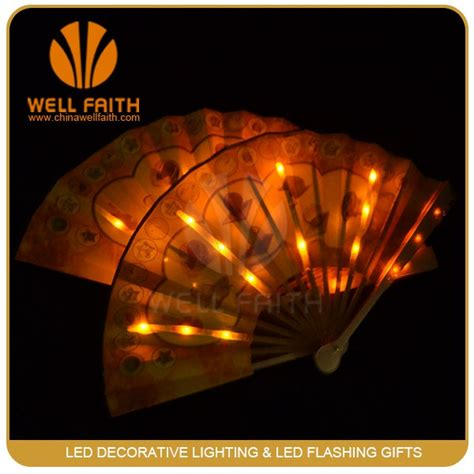 how to make a silk fan led light up silk fan for party event make chinese paper