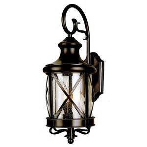Lowes Light Fixtures Outdoor Allen Roth 20 1 2 In Bronze Outdoor Wall Mounted Light