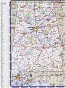 state map of showing cities map of alabama with cities and towns