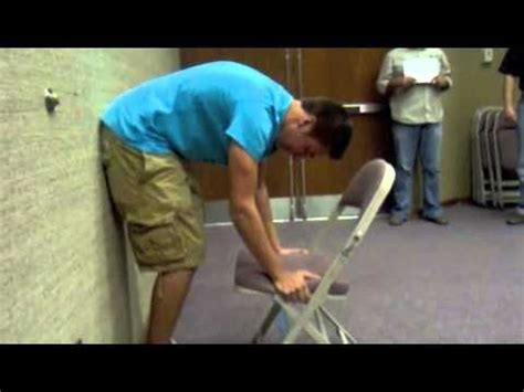 Chair Lifting Experiment the chair lifting experiment vs