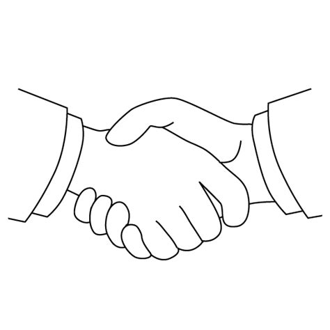 coloring page of shaking hands coloring pages handshake