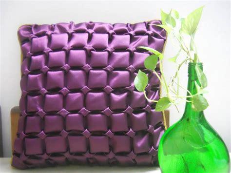 designer kissen purple satin designer cushion cover with canadian smocking