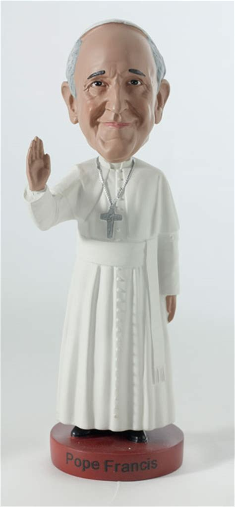 bobblehead pope pope francis bobblehead by royal bobbles at the shoppe