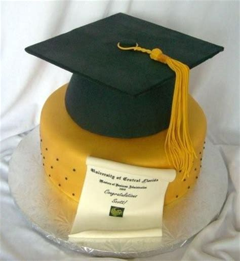 Ucf Mba Course Catalog by Ucf Grad Cake 10 Quot Gold Fondant And Then Applied