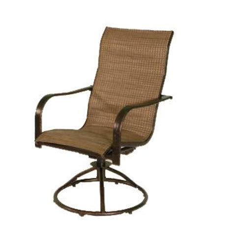 Summer Winds Patio Chairs Patio Furniture Piedmont High Back Padded Sling Swivel