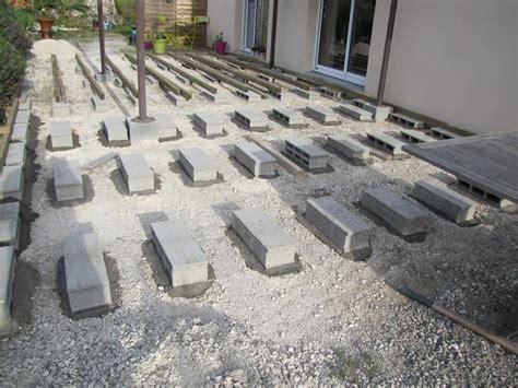 Montage Terrasse Composite 2343 nivrem terrasse bois plots parpaings diverses