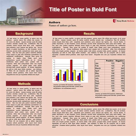 Poster Printing Templates Stony Brook University School Of Medicine Stony Brook Powerpoint Template