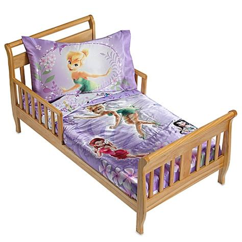 Disney Fairies Garden Treasures 4 Piece Toddler Bedding Disney Fairies Bedding Set