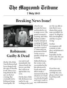 the maycomb tribune by corianafelver newspaper club