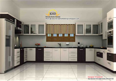 interior kitchen 3d rendering concept of interior designs kerala home
