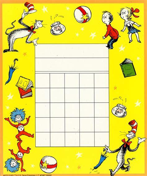 cat   hat mini reward charts eureka school
