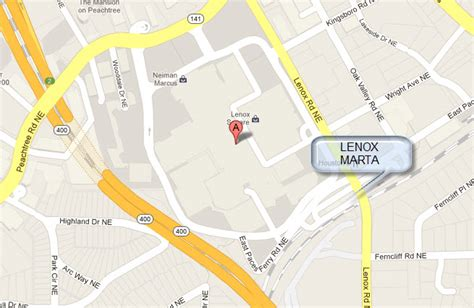 lenox mall map marta and midtown atlanta