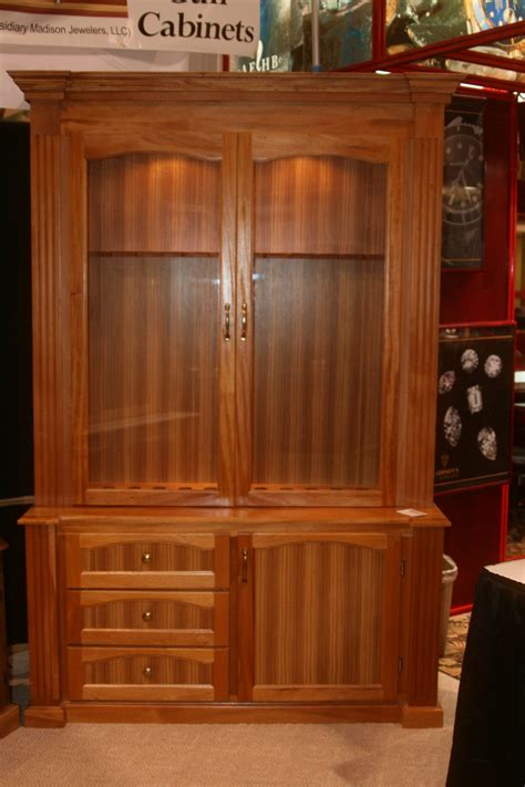 mahogany gun cabinet figueroa s custom furniture
