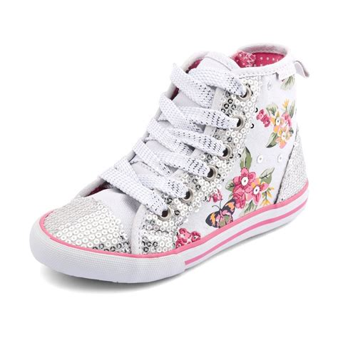 frangipani s white sparkle canvas shoe boot