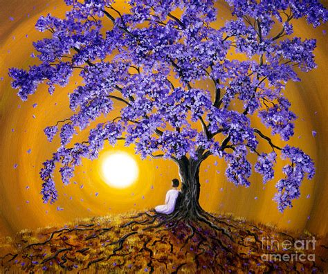 Home Decor Indian Blogs jacaranda sunset meditation painting by laura iverson