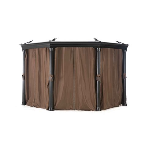 round gazebo with curtains universal curtain for round gazebo