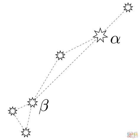 dorado constellation coloring page free printable