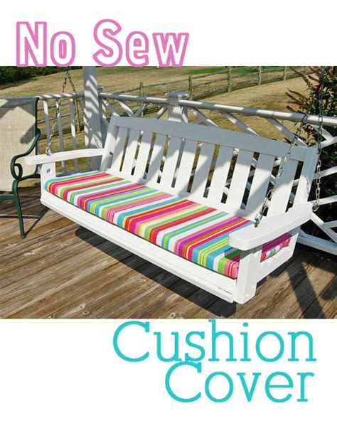 sewing bench cushions how to make a no sew cushion cover in my own style