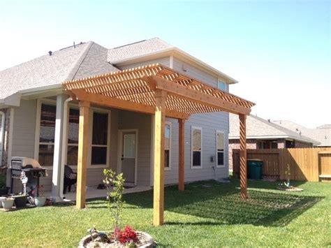 Lone Patio Builders In Houston Cedar Pergola In Houston Rustic Patio Houston By