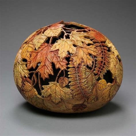 gourd craft projects carved by artist marilyn sunderland it