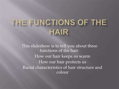 hair of the the functions of the hair