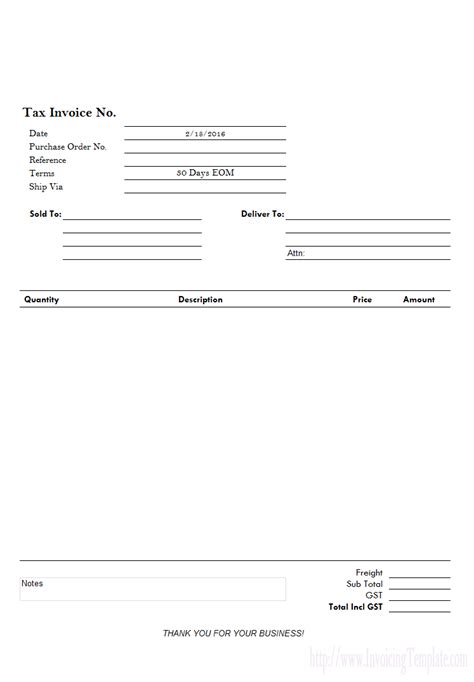Invoice Tax Letterhead Downloadable Invoice Forms For Scientific Services
